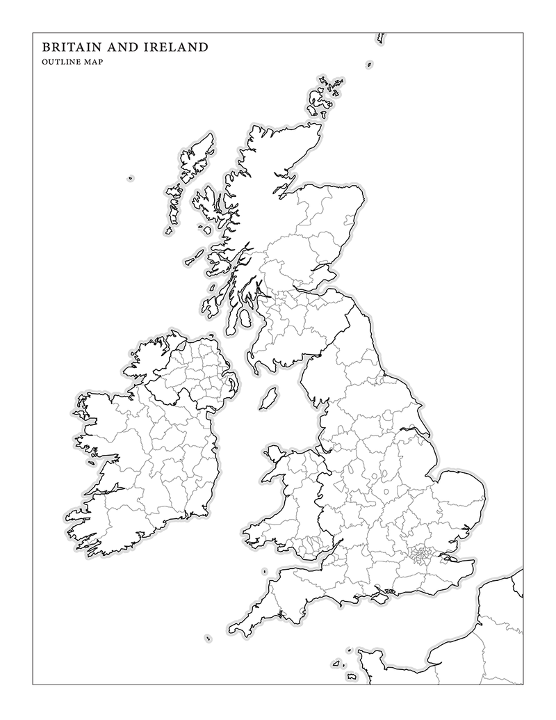Outline Map Of Britain And Ireland Blog Bencrowdernet - Outline map of