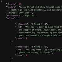 Scriptures in JSON