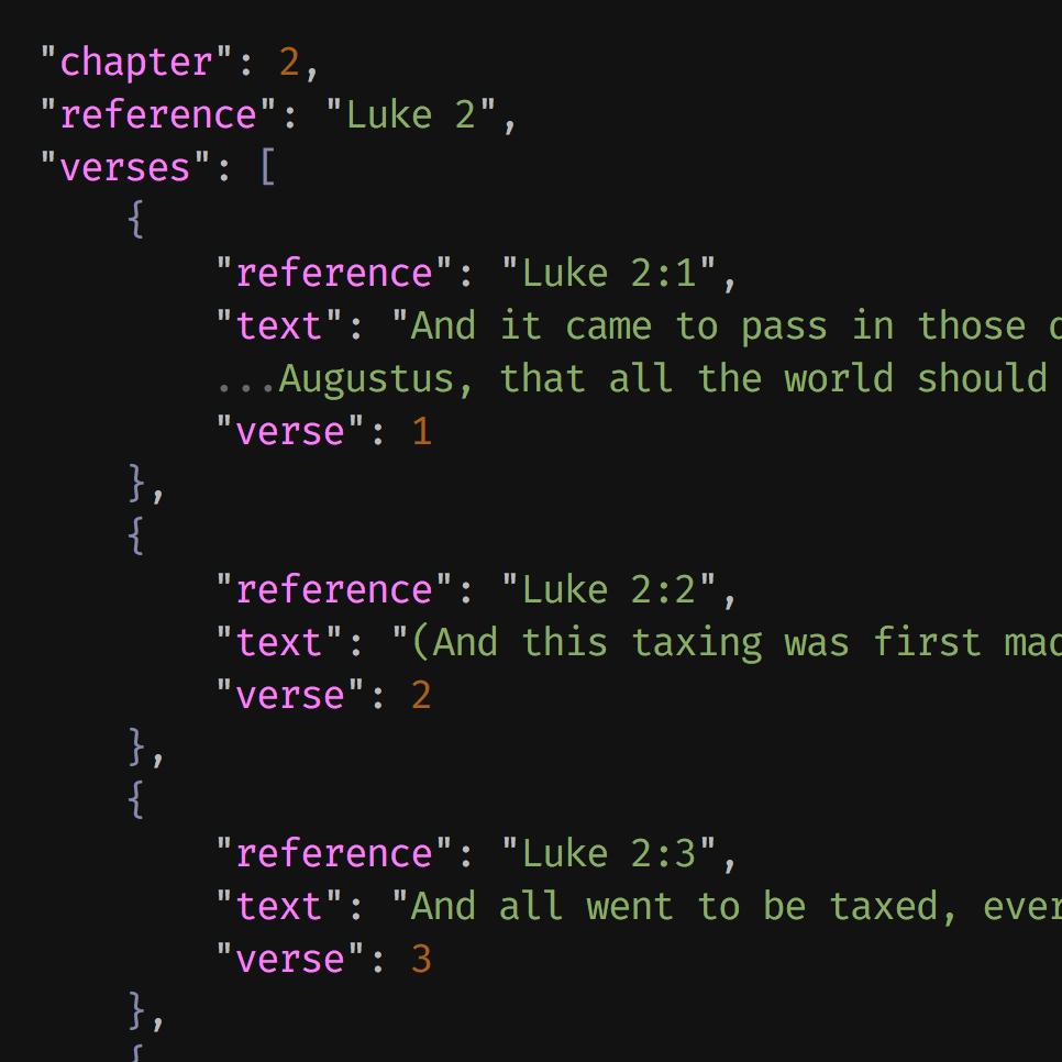 Scriptures in JSON